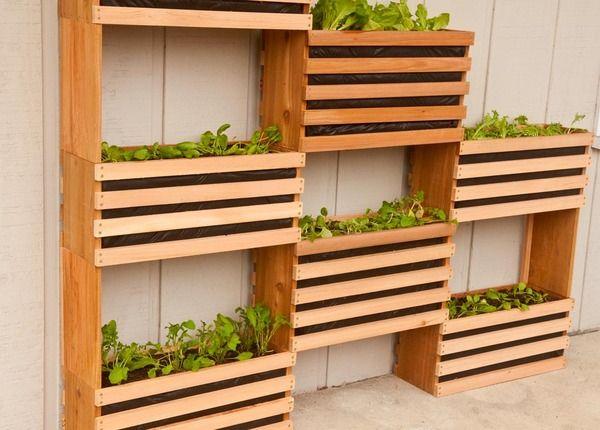 How to: Make a Modern, Space-Saving Vertical Vegetable Garden | Man Made DIY | Crafts for Men | Keywords: plants, sponsored, diy, planter