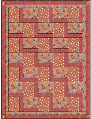 DINOSAUR PARTY STEPPING UP 3 YD QUILT KIT / 117