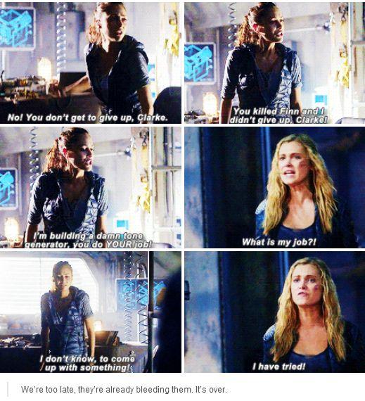 [gifset] #2x11 #CoupDeGrace #ClarkeGriffin #RavenReyes