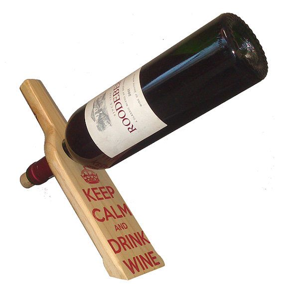 Personalized Wooden Floating Wine Bottle Holder