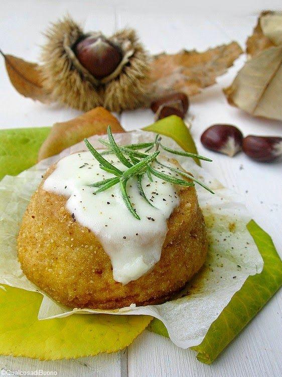 qualcosa di buono: Sformatini di zucca aromatizzata al rosmarino su fonduta di formaggio