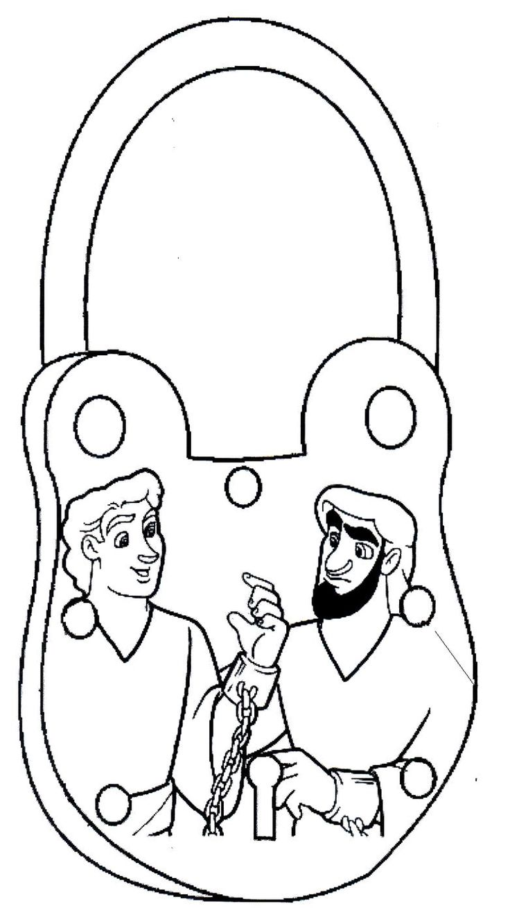 Acts Pauls Second Journey Paul And Silas In Prison Coloring Page