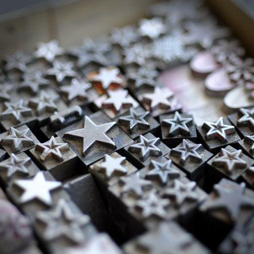Letterpress stars.