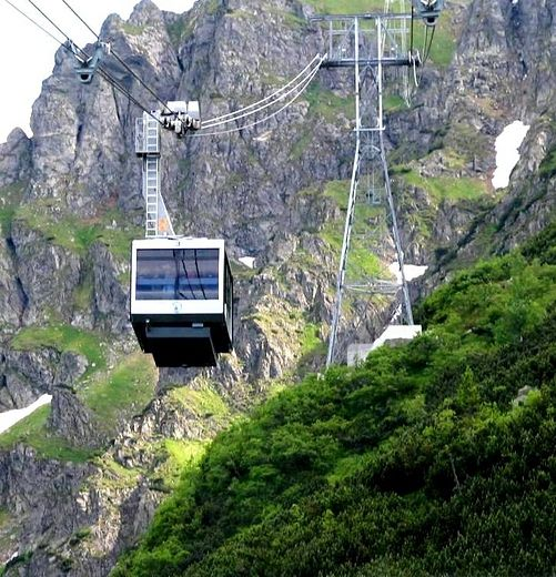 Kasprowy Wierch Peak elevator, Tatra Mountains, Poland