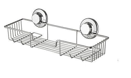 Kitchen Bathroom Rustproof Shower Storage Basket Caddy Shelf Suction Cup