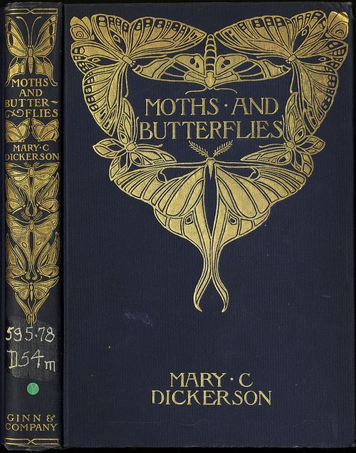 I've never read this book but love the gorgeous bindings ~ Moths and Butterflies by Mary C. Dickerson, (Boston, 1901)