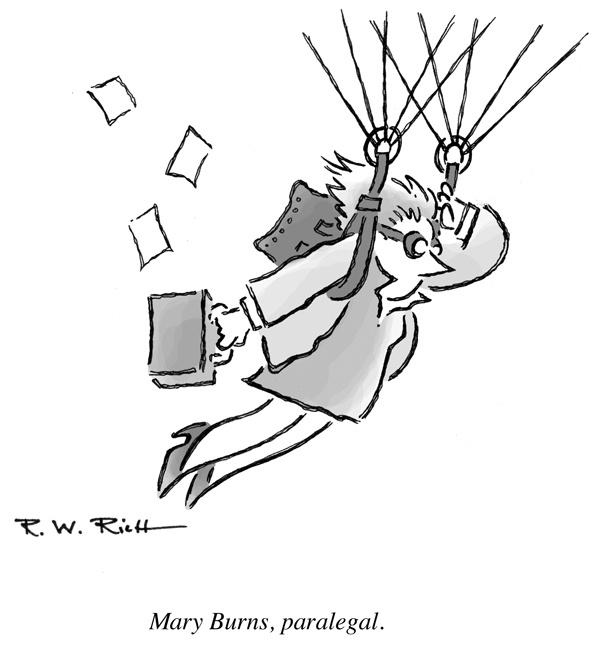 Nice illustration about a flying paralegal! http://bobrichillustration.files.wordpress.com/2012/01/paralegal.jpg