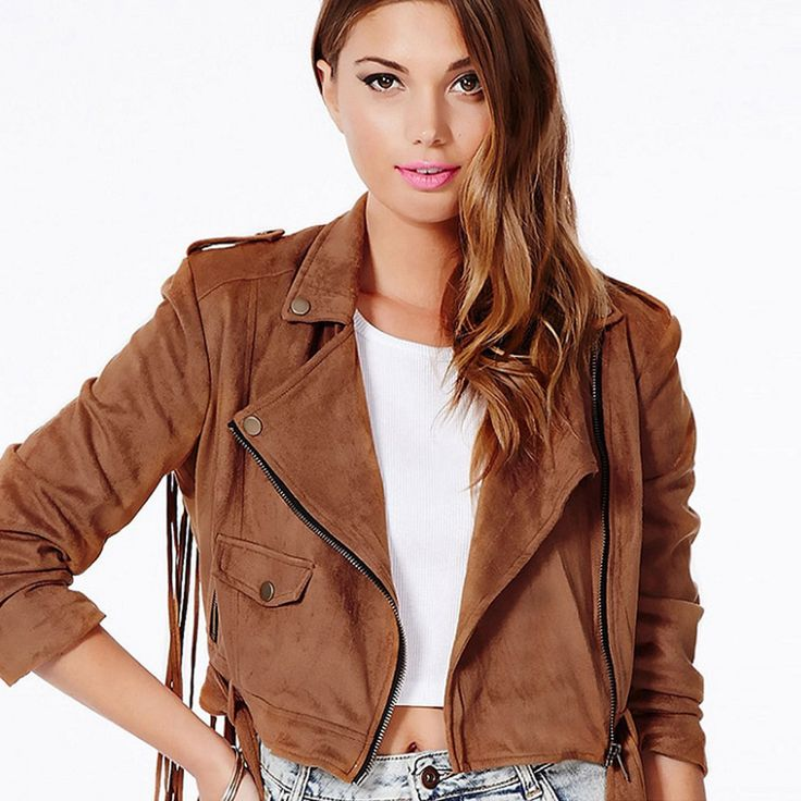 Winter-Fashion-Women-brown-leather-jacket