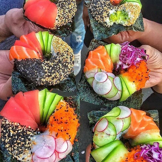 Anyone else craving sushi? Sushi donuts: molded rice stuffed w/ avocado spicy tuna or crab & topped w/ fish radish sesame seeds & other garnish . Would You Eat This? Tag someone you want to try these with!  . Follow @TheFitNinjas  Follow @TheFitNinjas  Follow @TheFitNinjas  . By ? .  #mealprep #cleaneats #eathealthy #wholefoods #realfood #avocado #dairyfree #eatwell #goodfats #healthyfoodie #eatingclean #hearthealth #health #healthyandhappy #healthychoice #nutrients #nutritious #fitninjafood #takecareofyourself #holisticnutrition #healthyyou #healthyhabits #sushi #sushi #sushiroll #TheFitNinjas