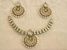 Traditional kundan jewellery from Rajasthan, India.