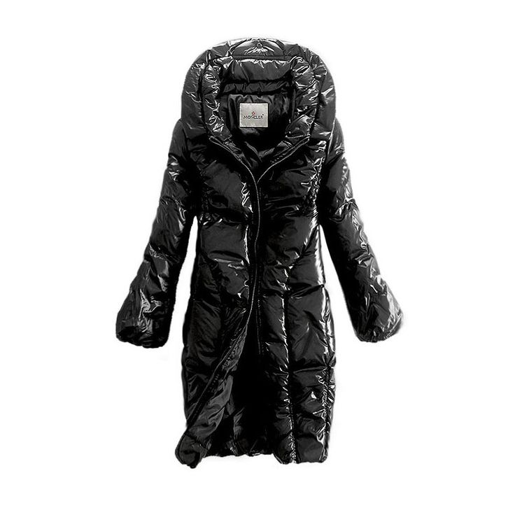 Moncler Zip Style Long Coats Women Down Black