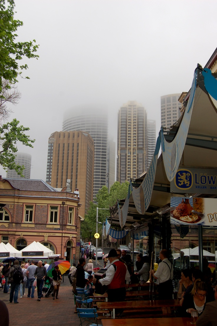 Markets,Rocks, Sydney on a foggy day Posted 26 May