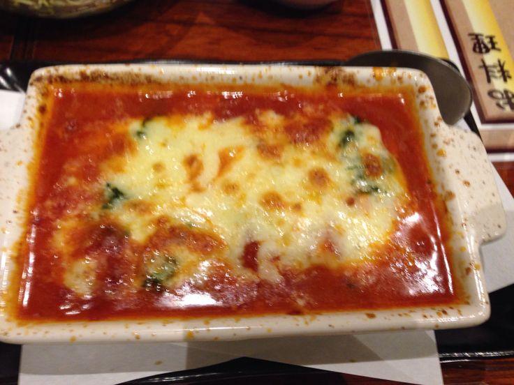 焼き鳥 成田家   海鮮とチーズのトマト煮込み       高松市ライオン通り