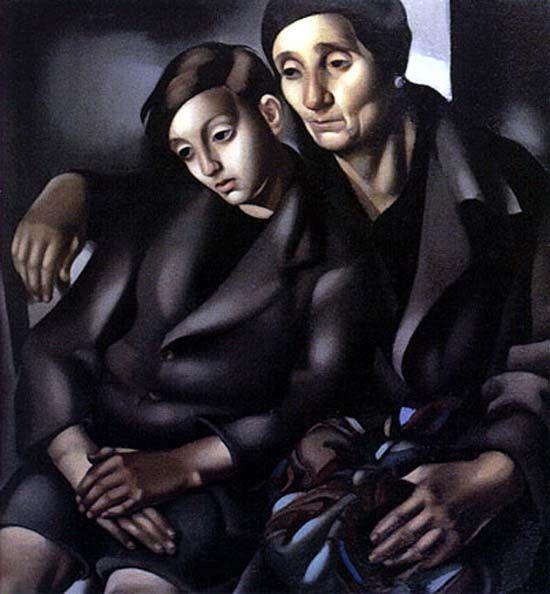 Art Deco painter Tamara de Lempicka (Polish: 1898-1980) - The Refugees - 1937