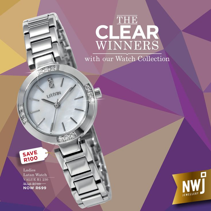 We'll time you with this fabulous Latan watch to see how quickly you can get to your nearest NWJ store!