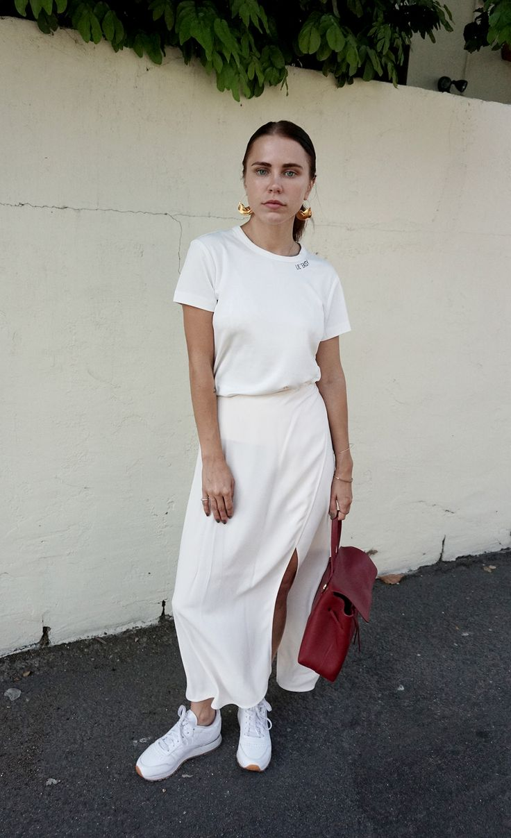 Et Eais shirt Always Judging Mansur Gavriel Bag Reformation skirt