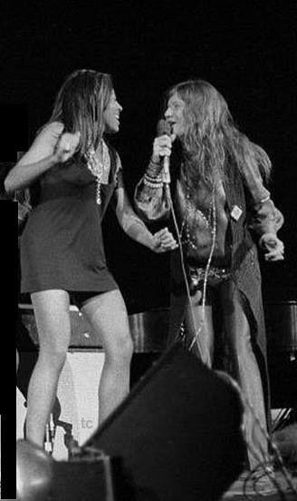 Tina Turner & Janis Joplin, 1969.