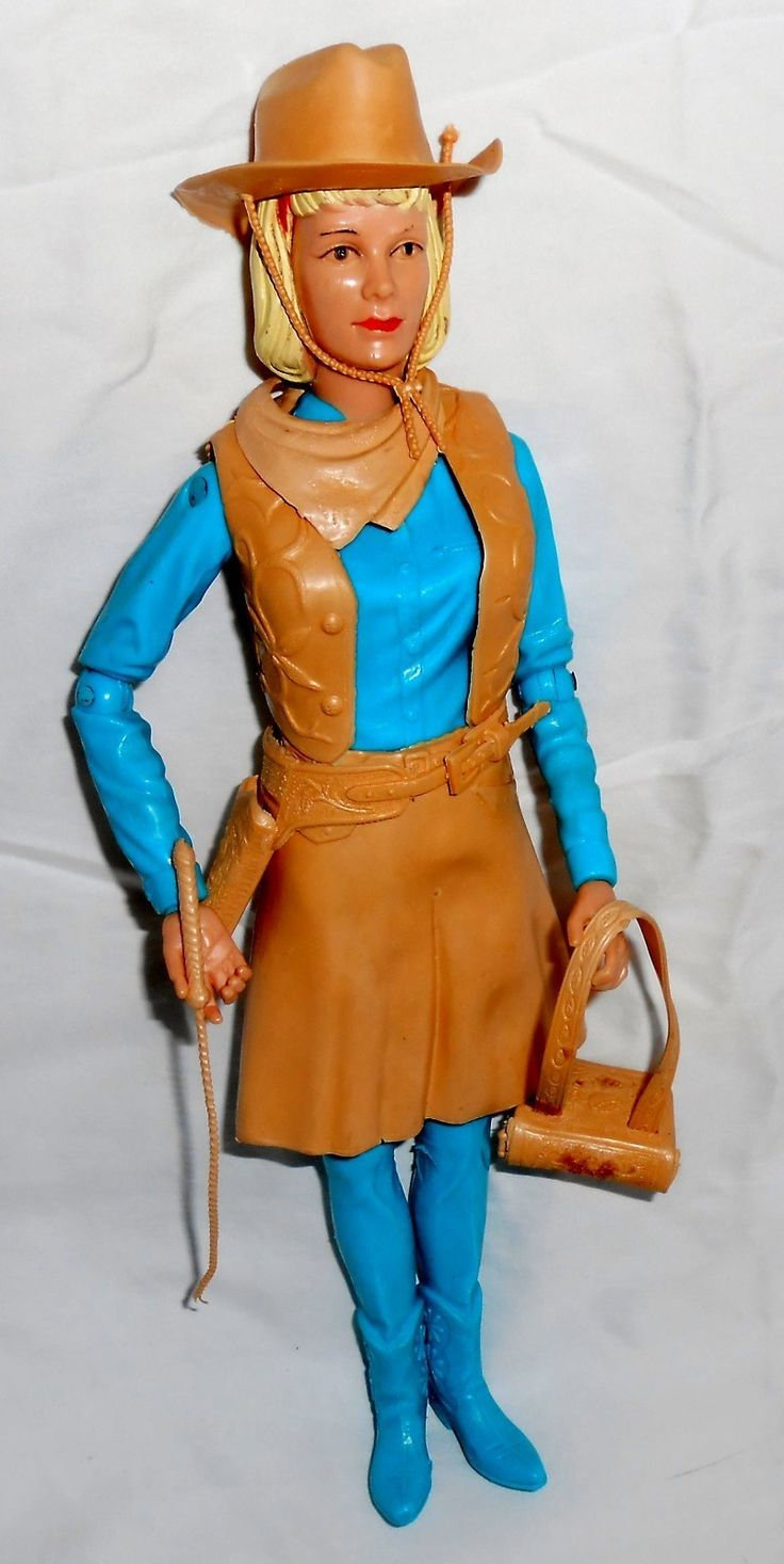 Vintage Jane West Movable Cowgirl Plastic Doll 2067 By