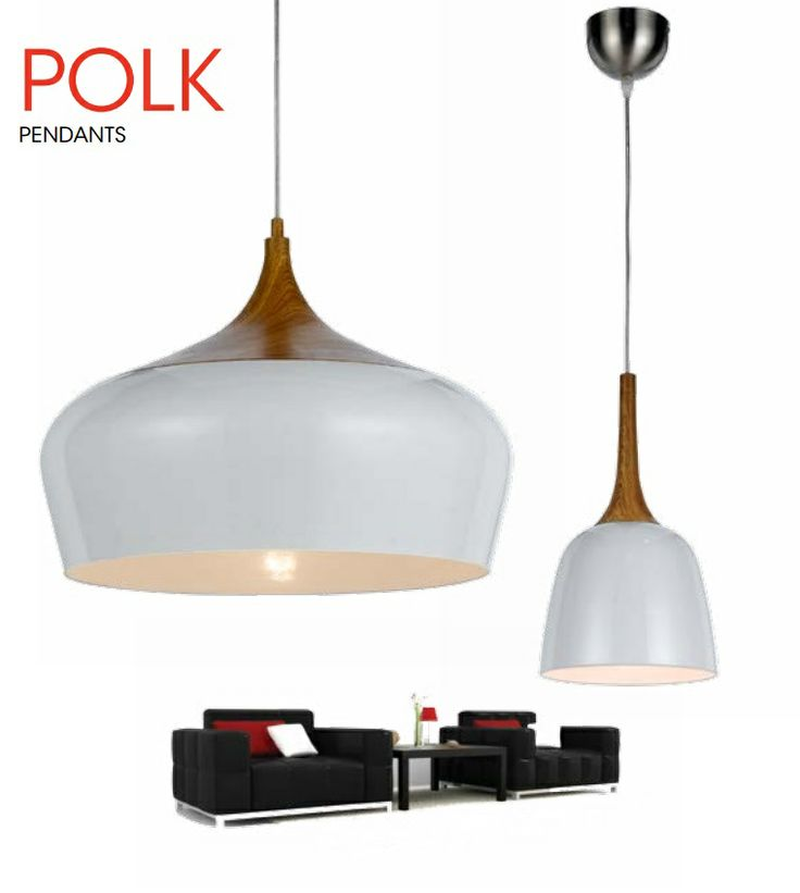Master bedroom x2 POLK 20 Oak-White Modern Pendant, Davoluce Lighting, Telbix Australia.  $59 small light