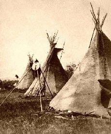 William Henry Jackson - Nez Perce tipis in Montana, 1871.