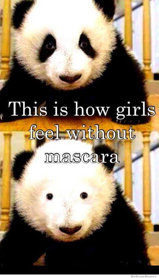 Girl's without mascara