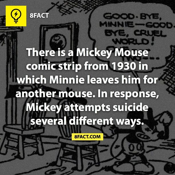 8fact | Suicidal Mickey Mouse :(