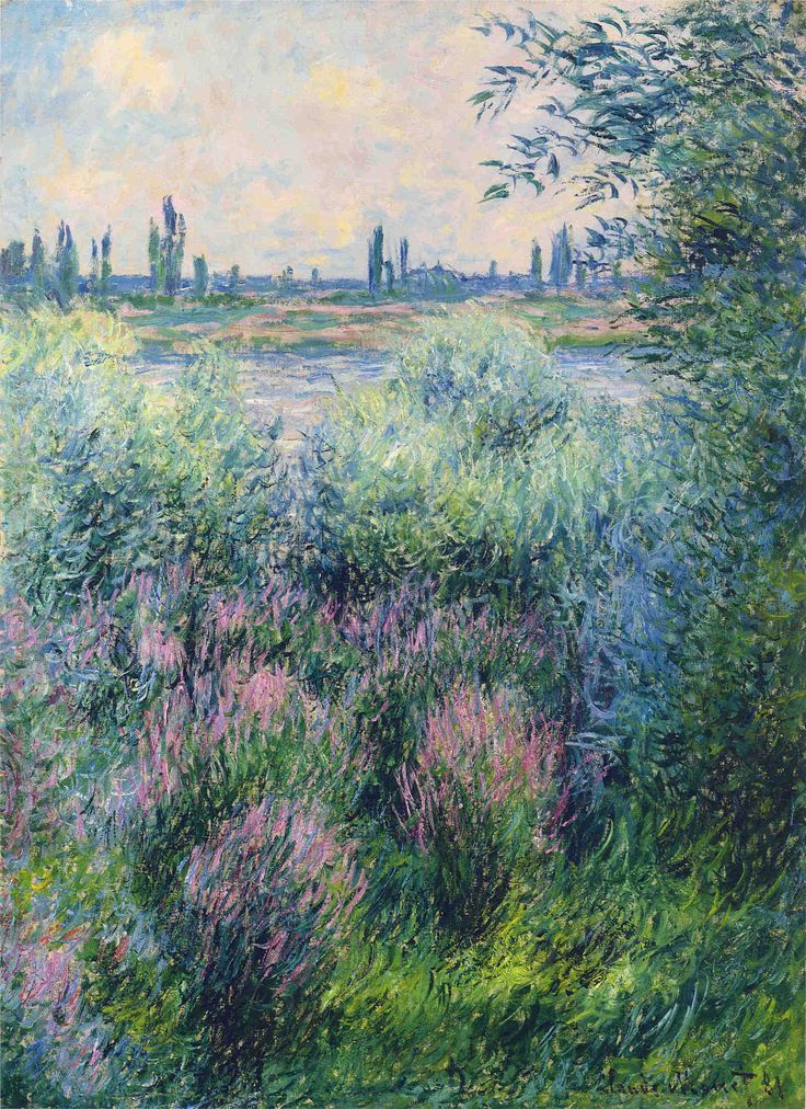 Claude Monet Spot on the Banks of the Seine (1881)