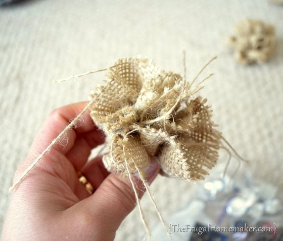 No sew burlap flowers