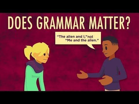"""New TED-Ed Lesson & Video: """"Does grammar matter?"""" 