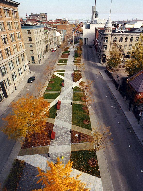 Place d 39 youville montreal claude cormier parks gardens for Landscape architecture canada