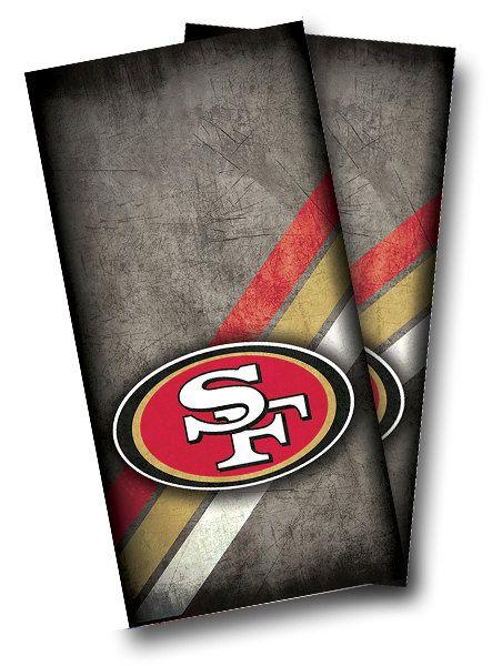 SAN FRANCISCO 49ers Cornhole Wrap Wraps Set High Quality Vinyl