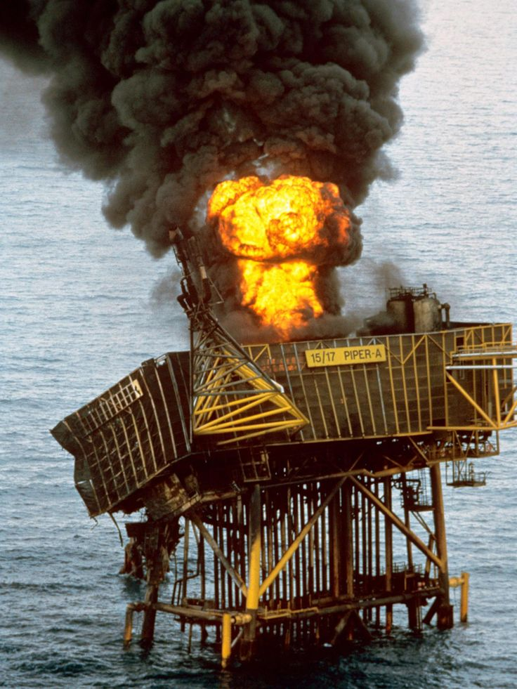 The remains of the Piper Alpha oil platform. The 1988 explosion killed 167 people. [1536px  2048px]