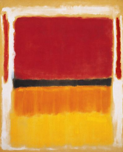 Mark Rothko - Untitled (Violet, Black, Orange, Yellow on White and Red)  1949