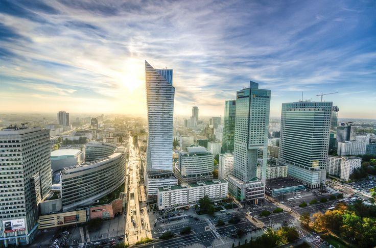 Warszawa, Skyline, Cityscape, Architektura, Polska