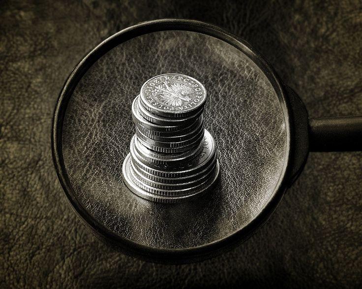 Lupa para coleccionar monedas