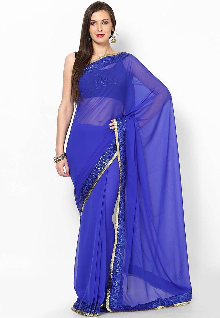 Rcpc #DeepikaPadukone #BlueSaree in YJHD - Buy Rcpc Women Bollywood Sarees Online | RC140WA62JQZINDFAS