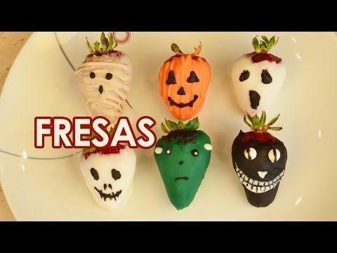 Receta para Halloween: Fresas siniestramente decoradas http://ini.es/1xoDjVB #Fresas, #RecetaParaHalloween