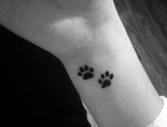 I like the idea of of this for every animal I've owned that has been a part of my family....but let's get real - I'll be covered in paw tattoos! Oh well, it's cute!