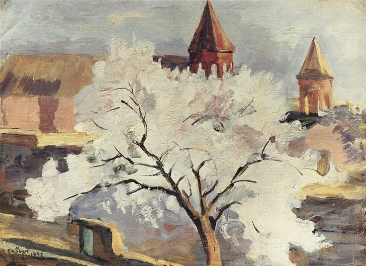 Сарьян. Абрикосовое дерево в цвету. 1942