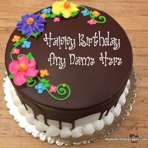 New Arrival Happy Birthday Chocolate Cake With Name