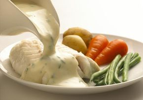 A traditional English parsley sauce recipe is a classic of the British kitchen. Perfect with fish, ham or vegetables.
