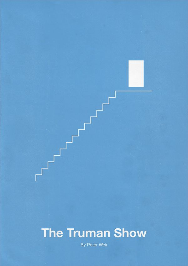 The Truman Show Minimalism Movie Poster. 12 Minimalist Movie Poster Designs by Eder Rengifo #minimalism #movie #posters