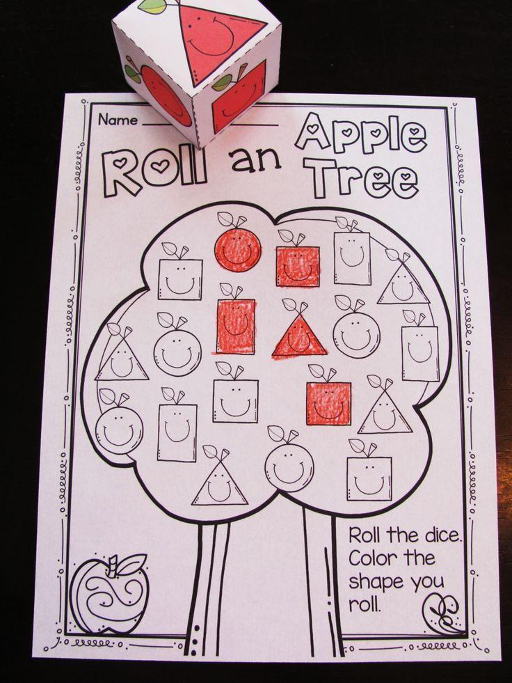 apples theme 2d shapes activities kindergarten colorskindergarten - Kindergarten Color Games