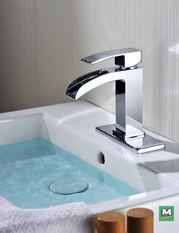 The Tuscany Free Fall Is A Trend Setting Bath Sink Faucet With A Unique Waterfall Style Spout In A P Bathroom Faucets Chrome Bath Sink Faucet Pull Out Faucet