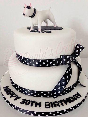 English bull terrier cake
