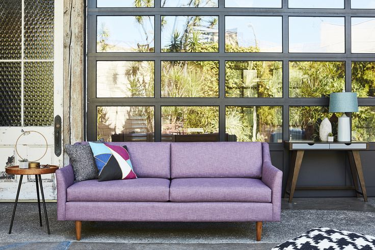 Part of the Kyle Schuneman collection, The Sutton uses a beautiful rounded arm that creates a soft edge to the sofa. The deep seat and wood legs keep the look f