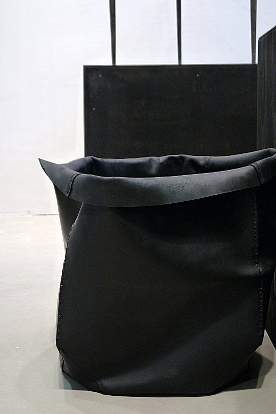 Black leather boxes | Rick Owens
