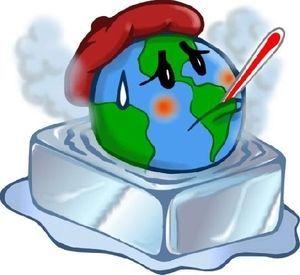 global warming  地球温暖化問題 イラスト
