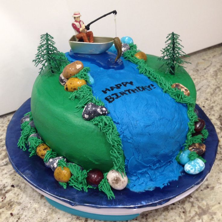 Gone fishing cake recipes you 39 ll love on pinterest for Fishing themed cakes