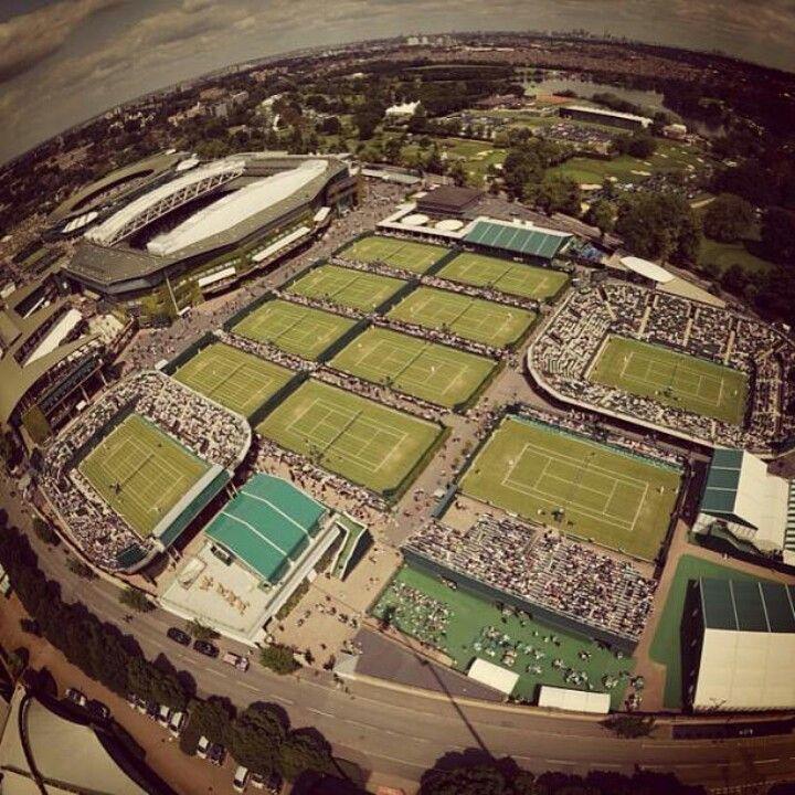 Tour the Wimbledon grounds, Wimbledon AELTC Club, England. All England Lawn-Tennis & Croquet Club